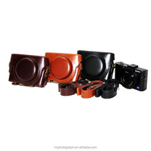 Factory Pirce Brown Color Camera Case for Sony RX100II