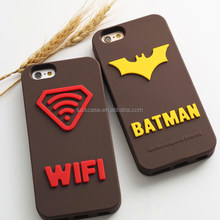 Brand-new Supervb wifi and batman design 3D silicone case for iphone 6/6 plus/6S/6S plus hot sale silicone phone case/cover