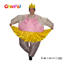 2017 Wholesale Funny Fat Inflatable Ballerina Costume For Adult Costumes