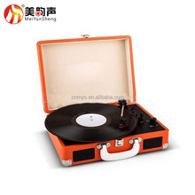 USB Bluetooth Vinyl Suitcase Style Turntable Record Player