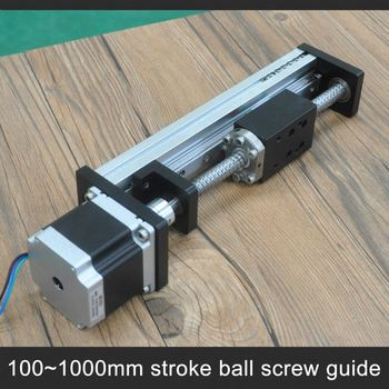 1000mm effective length low cost c7 ball screw driven cnc for Low profile stepper motor