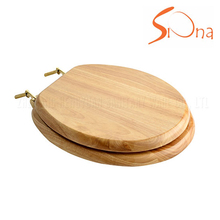 SIONA 17 Inch natural price soft close bidet wooden toilet seat cover