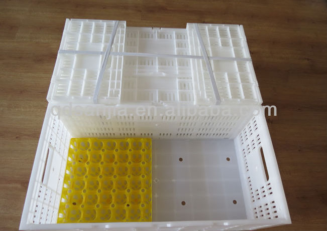 Useful egg packing tray plastic foldable crates