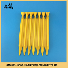 20cm ABS Plastic Awning Tent Pegs Pin Camping Accessory Ground Garden Flat Yellow Stake Outdoor