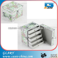 aluminum makeup vanity case with drawers