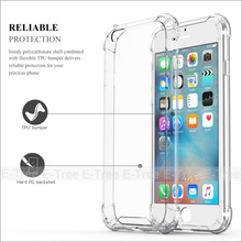 Shockproof Hybrid Rubber TPU Clear Back Cover Phone Case for Apple iPhone 6 / 7 / 7plus