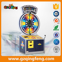 Qingfeng hot sale indoor play gambling games lottery machine roulette spin and win