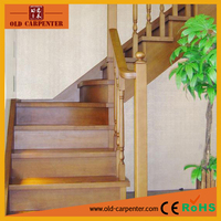 Outdoor solid wood stair railing & banister