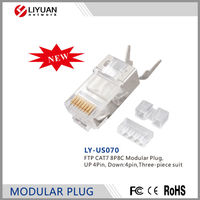 LY-US070 FTP CAT7 8P8C Modular Plug RJ45 Plug RJ45 Connector 8P8C