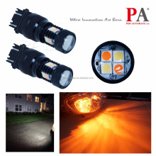 3030 SMD Amber Orange White Bulbs Hot selling Auto LED Lamp dual color light 3156 3157