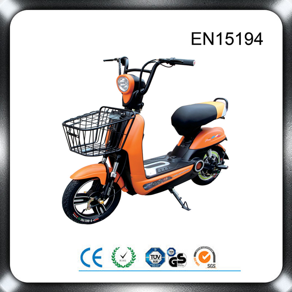 2015 hot sale CE certification 350w hybrid electric scooter with pedals