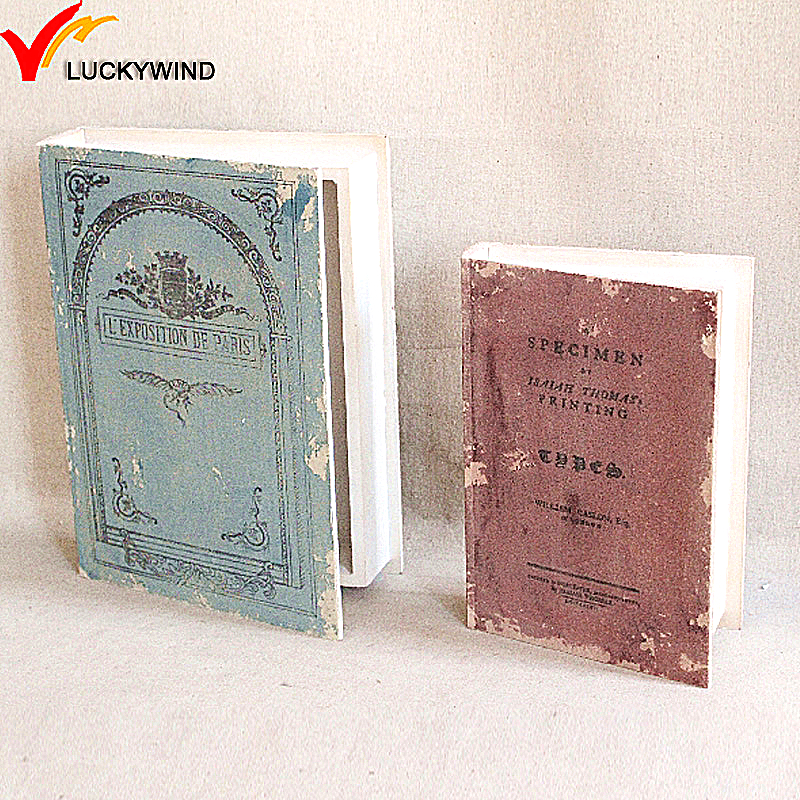 fake wooden london decorative book box wholesale