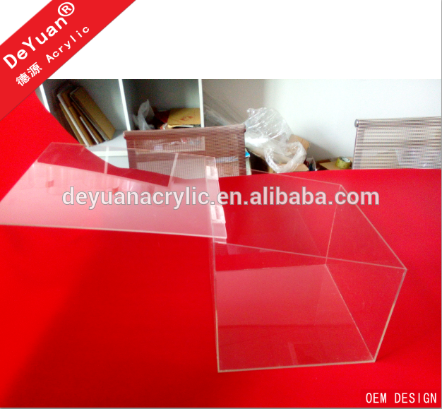 High quality acrylic food display cases / perpsex containers box for food