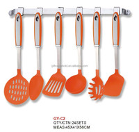 6pcs nylon cooking tools/kitchenware, nylon+stainless steel handle