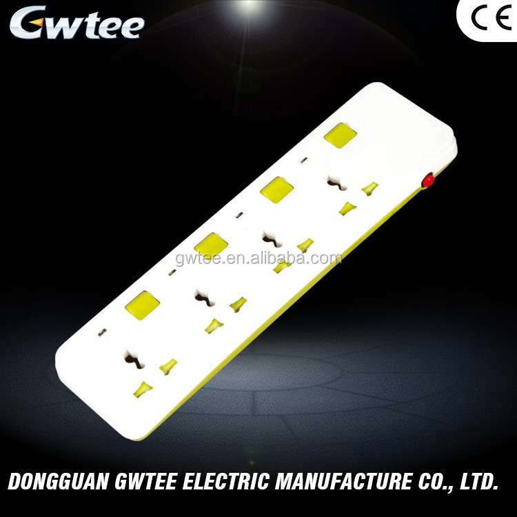 China suppliers wholesale multiple outlets CE universal power strip power extension socket