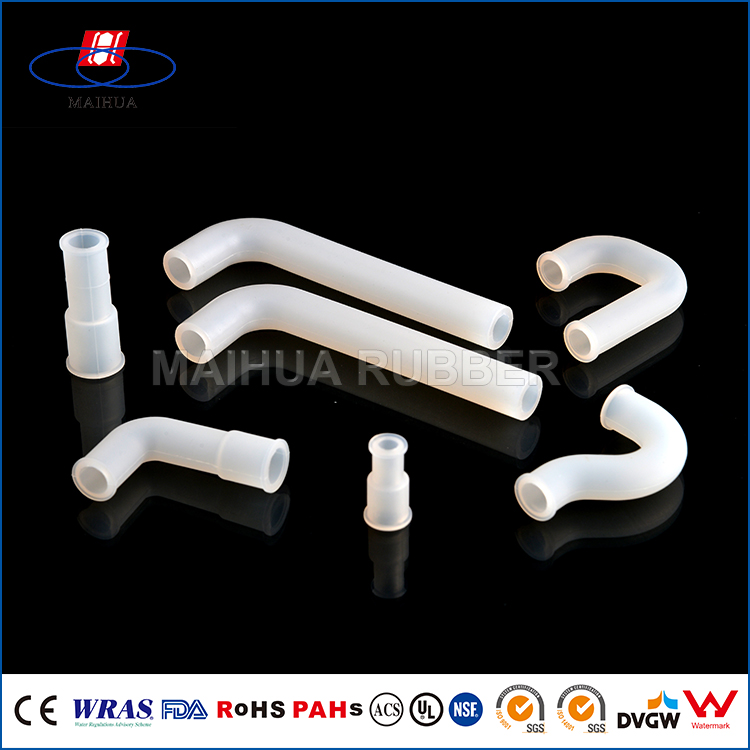 FDA Transparent compliant glass fiber reinforced silicone rubber tube