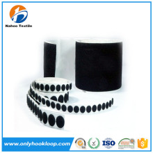 Magnetic hook and loop self adhesive dots roll