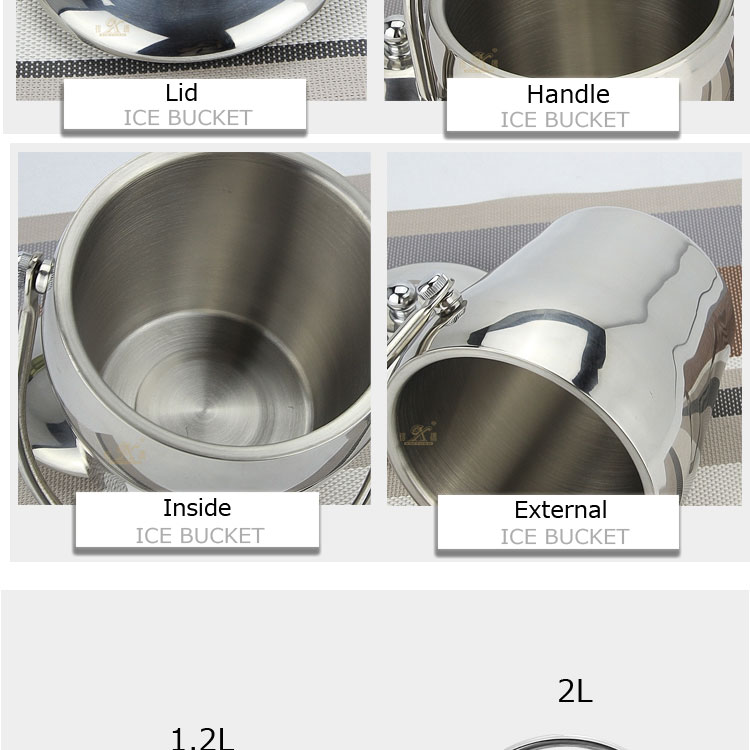 stainless steel ice bucket FT-02604-A