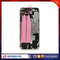 cheap battery cover for iphone 5 back cover housing with middle frame