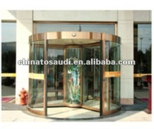 Luxury Rotating copper front door for Hotel & High-grade place