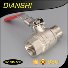 "1/4""-4"" Forged DZR brass or normal brass locking handle brass ball valve"