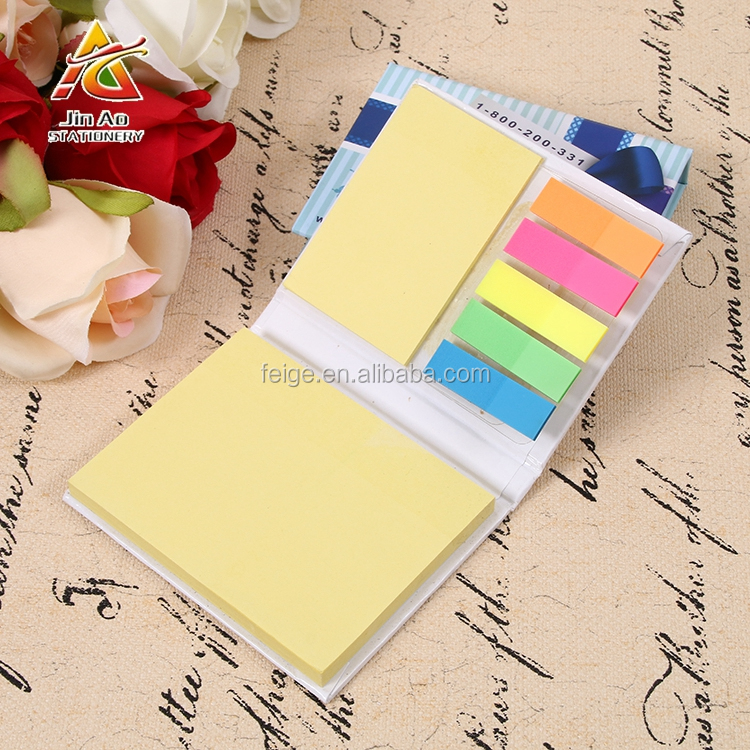 Promotional Pocket Memo Pad With Colorful Book Markers
