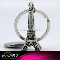 Eiffel Tower metal keychain,custom key chain,metal key ring