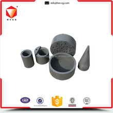 Practical high density graphite crucible for brass copper