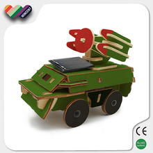 Solar Powered Wooden Toy Truck