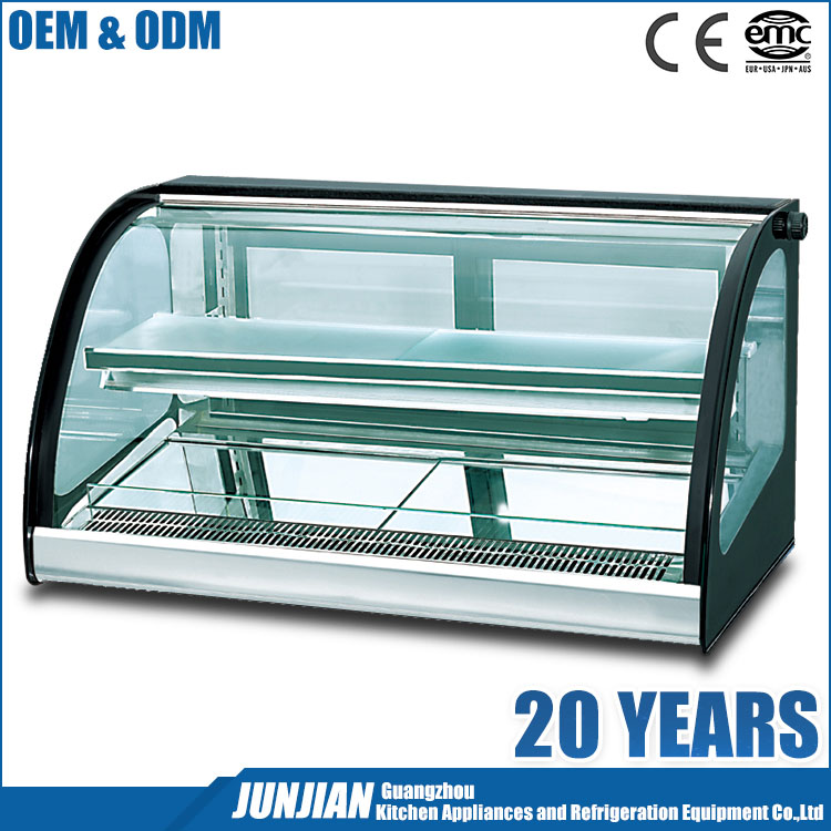 Double layer sushi open display / showcase cooler chiller for bakery