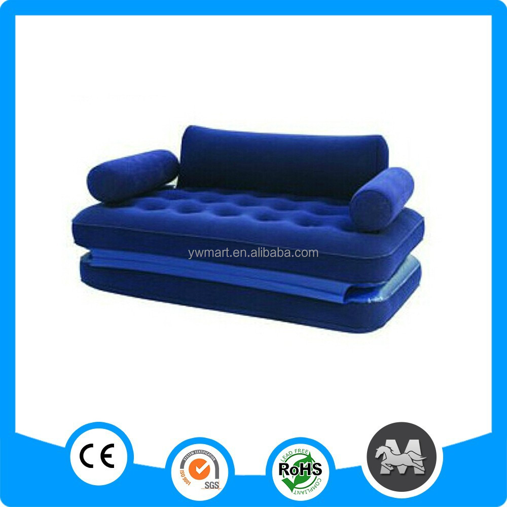 <strong>5</strong> in 1 sectional infatable double bed chair