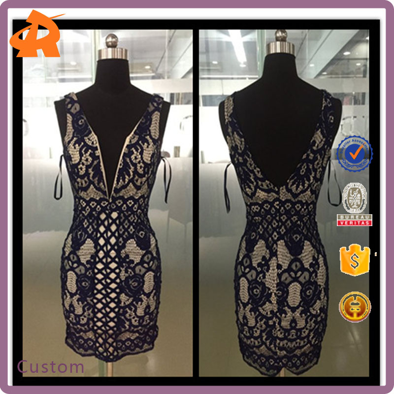 Wholesales Fashion Chiffon Ladies Casual Dresses Pictures Sexy Bodycon Lace Dress In Stock