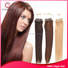 100% Synthetic Fiber Hair straight hair Remy Quality micro ring hair extension