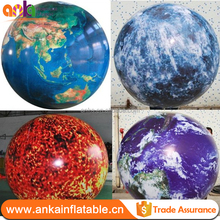 Inflatable planet balloons type helium globe balloon for party suppliers
