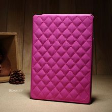 2014 brand new design pink color hand bag luxury wallet bag style leather flip case for ipad air case
