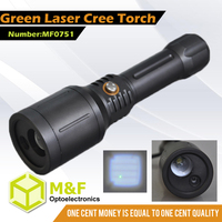 XPG LED + 1 green laser flashlight torch lighting hot new products for 2015