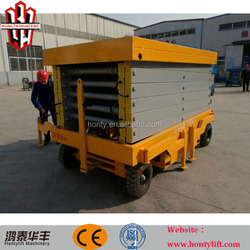 12m hydraulic mobile man scissor lift trolley