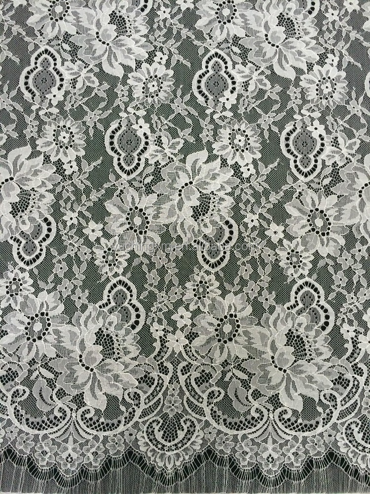 Quick Delivery Supplying French Bridal flower embroidered lace fabric for sale in a variety of styles and materials