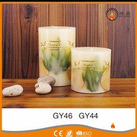 Wholesale multi-colored high quality aroma candle art inside craft candle