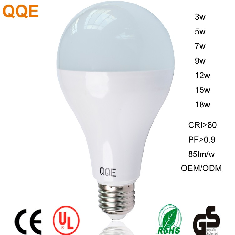 China wholesale PC cover plastic coated aluminium 1500lm lamp luminous flux E27 B22 led light bulb