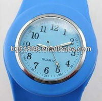 High Quality Silicon Slap Bracelet Wrist Watch