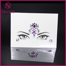 New design custom self-adhesive rhinestone jewels face sticker for party makeup
