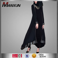 Alibaba Wholesale Abaya styles 2016 Modern Abaya Muslim Clothing Black Muslim Tunic Latest Burqa Designs Pictures For Women