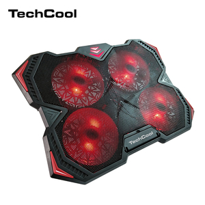 2018 new product factory wholesale oem adjustable gaming notebook cooler laptop cooling pad with 4 LED silent fans