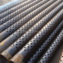 8mm hole size perforated steel casing tube/pipe for well drilling