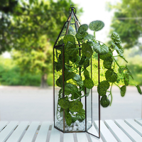 HX-7762 Expensive Stained Clear Glass Vase For Ornament Terrariums
