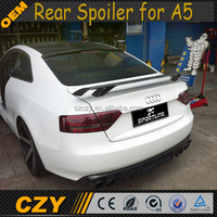 FRP Rear Bumper Position A5 Auto Rear Spoiler for Audi