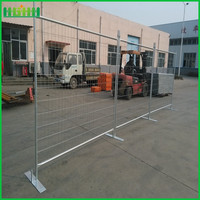 portable and druable metal base construction site temporary fence