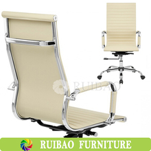 Ergonomic High Back leather ribbed office chair Replica