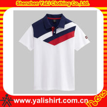 Wholesale china made color combination short sleeve cotton trendy fake polo t shirt for men
